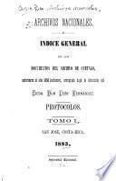 Indice general de los documentos del archivo de Cartago