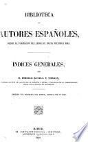 Indices generales, [t.1-70] Biblioteca de autores españoles