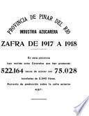 Industria Azucarera; Memoria de la Zafra