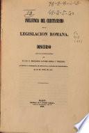 Influencia del cristianismo en la legislación romana