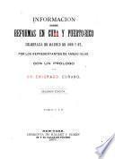 Información sobre reformas en Cuba y Puerto Rico celebrada en Madrid en 1866 y 67