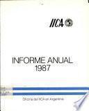 Informe Anual 1987