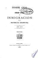 Informe anual del Comisario General de Immigración de la República Argentina