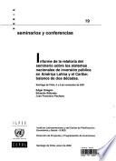 Informe de la Relatoria del Seminario sobre los Sistemas Nacionales de Inversion Publica en America Latina y el Caribe