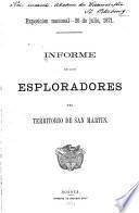 Informe de los esploradores del territorio de San Martín