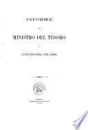 Informe del Ministro del Tesoro al Congreso de ...