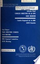 Informe final, reunión del Consejo Directivo, Organización Panamericana de la Salud