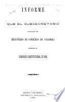 Informe presentado por el Ministro de Gobierno al Congreso de la Republica en ...