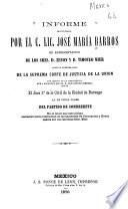 Informe pronunciado por el c. lic. José María Barros
