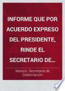 Informe que por acuerdo expreso del presidente, rinde el secretario de gobernación á las Comisiones unidas de hacienda y puntos constitucionales de la Cámara de senadores sobre la liquidación practicada por el ejecutivo federal con la Compañía del ferrocarril mexicano