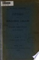 Informes de los consejeros legales del poder ejecutivo: De 1875 á 1878