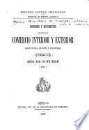 Informes y documentos relativos á comercio interior y exterior, agricultura é industrias