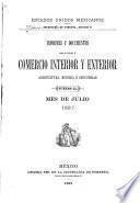 Informes y documentos relativos á comercio interior y exterior agricultura é industrias