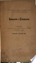 Inmigración y colonización