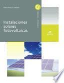 Instalaciones solares fotovoltaicas - Ed. 2019