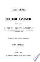 Instituciones de Derecho Canónico