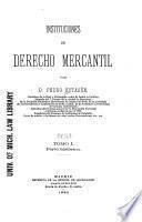 Instituciones de derecho mercantil: Parte histórica