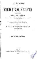Instituciones de derecho público eclesiástico