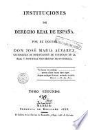 Instituciones de derecho real español, 2