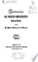 Instituciones del derecho administrativo español