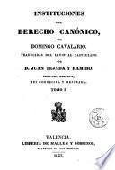 Instituciones del derecho canónico, 1