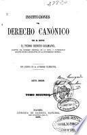 Instituciones del Derecho Canónico