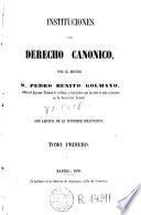 Instituciones del derecho canonico
