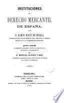 Instituciones del derecho mercantil de España