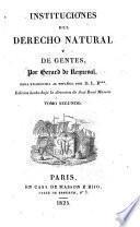 Instituciones del derecho natural y de gentes