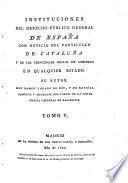 Instituciones del derecho público general de España, 5