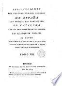 Instituciones del derecho público general de España, 8