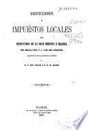 Instituciones é impuestos locales del Reino-Unido de la Gran Bretaña e Irlanda
