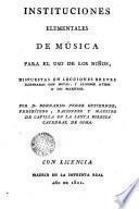 Instituciones elementales de música para el uso de los niños