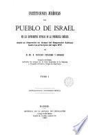 Instituciones jurídicas del pueblo de Israel en los diferentes estados de la península ibérica