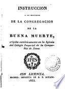 Instrucción a los individuos de la congregación de la Buena Muerte