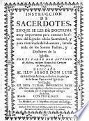 Instruccion de sacerdotes