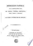 Instruccion pastoral de los Ilustrísimos Señores obispos de Lérida, Tortosa, Barcelona, Urgel, Teruel y Pamplona al clero y pueblo de sus diócesis