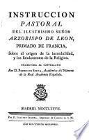Instrucción Pastoral del Ilmo. Sr.---.