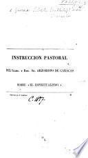 """Instruccion pastoral ... sobre """"el Espiritualismo."""""""