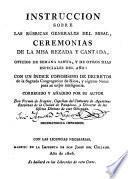 Instrucción sobre las Rúbricas generales del Misal ...