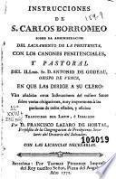 Instrucciones de S. Carlos Borromeo sobre la administracion del sacramento de la penitencia