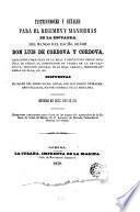 Instrucciones y señales para el régimen y maniobras de la escuadra del mando del Escmo. Señor Don Luis de Cordova y Cordova ...