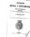 Instrución para el detall y contabilidad de la infanteria