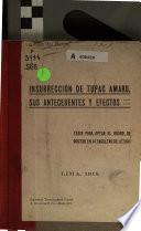 Insurrección de Tupac Amaru
