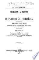 Introduccion á la filosofía y preparacion á la metafísica