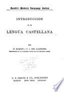 Introducción á la lengua castellana