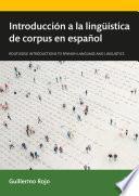 Introducción a la lingüística de corpus en español