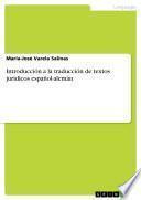 Introducción a la traducción de textos jurídicos español-alemán