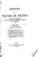 Introducción a un tratado de política