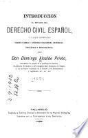 Introducción al estudio del derecho civil español